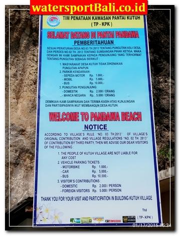 Tiket Karcis masuk Pantai Pandawa Bali